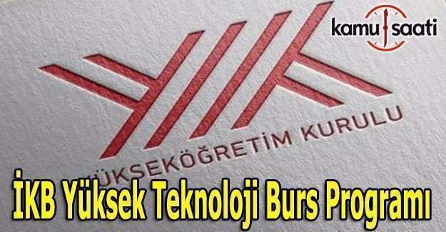 İKB Yüksek Teknoloji Burs Programına başvurular başladı