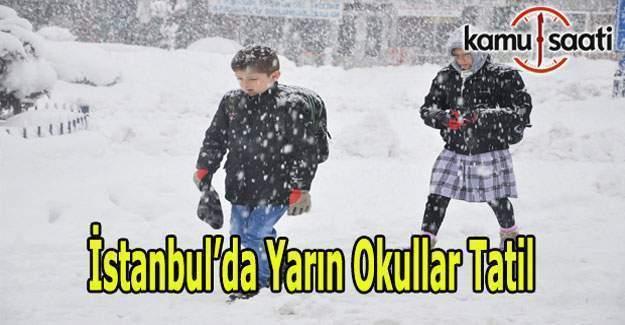 İstanbul'da okullar tatil edildi - Son dakika Valilik açıklaması