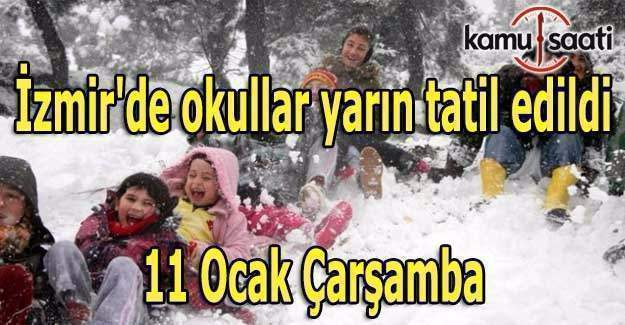 İzmir'de okullar yarın tatil edildi- 11 Ocak Çarşamba