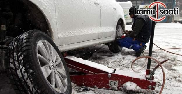 Kar hayatı felç etti - Lastikçiler doldu taştı