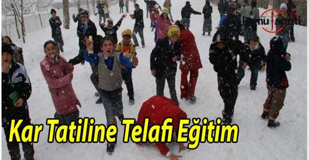 Kar tatiline telafi eğitimi geliyor - Telafi Eğitimleri ne zaman başlayacak?