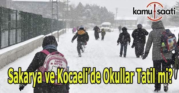 Sakarya ve Kocaeli'de yarın okullar tatil olacak mı? 9 Ocak 2017 Pazartesi