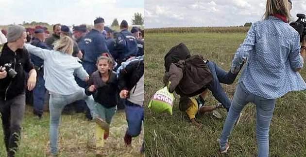 Sığınmacılara tekme atan kameramanın cezası belli oldu