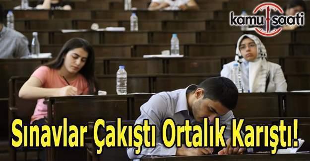 Sınavlar çakıştı ortalık karıştı!