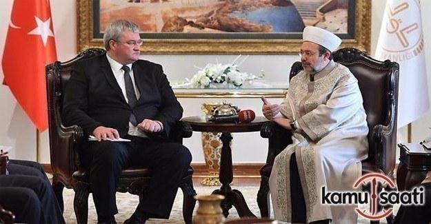 Ukrayna'nın Ankara Büyükelçisi Sybiha'dan Diyanet'e ziyaret