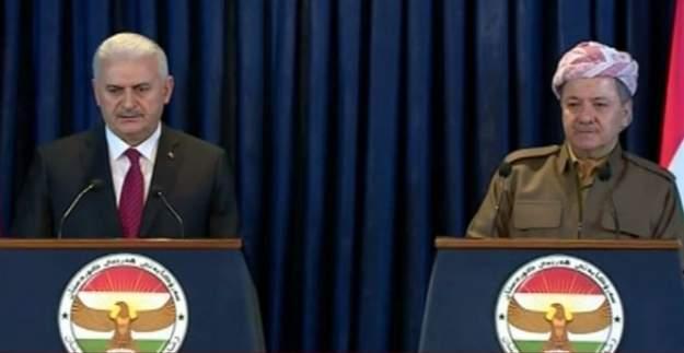 Yıldırım ve Barzani ortak basın toplantısı düzenledi