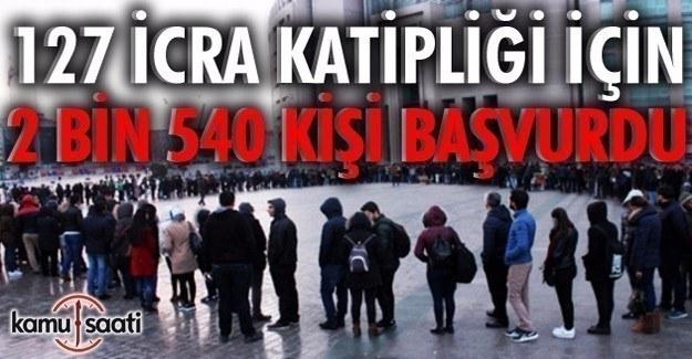 127 kişilik katiplik için 2 bin 540 başvuru