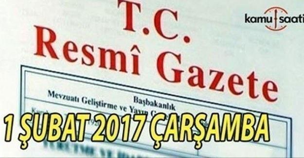 1 Şubat 2017 Tarihli ve 29966 Sayılı Resmi Gazete