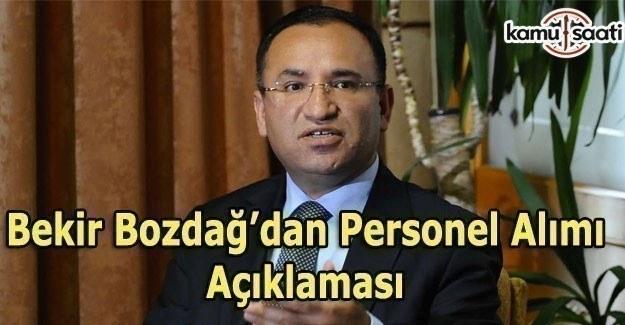 2 bin 500 Hakim ve Savcı alımı yapılacak - Bekir Bozdağ'dan personel alımı açıklaması