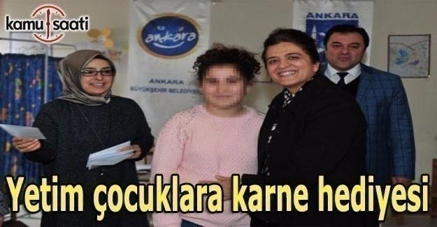Ankara BB'den yetim çocuklara karne hediyesi