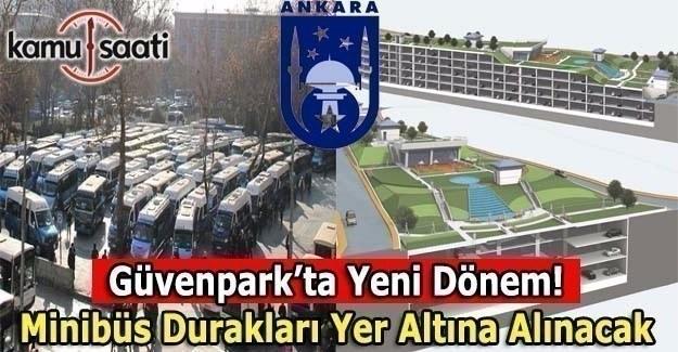 Ankara Güvenpark minibüs duraklarına yeni düzenleme