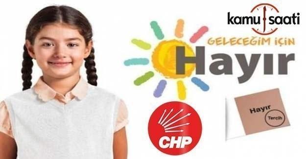 """CHP Referandum Logosu belli oldu; """"Geleceğim için Hayır"""""""
