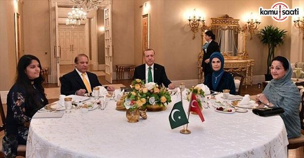 Cumhurbaşkanı Erdoğan, Navaz Şerif ile görüştü