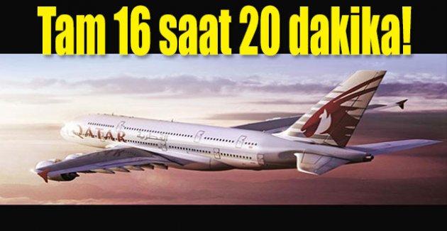 Dünyanın en uzun direkt uçuşu başladı