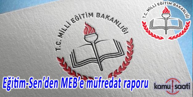 Eğitim-Sen'den MEB'e 90 sayfalık müfredat eleştirisi