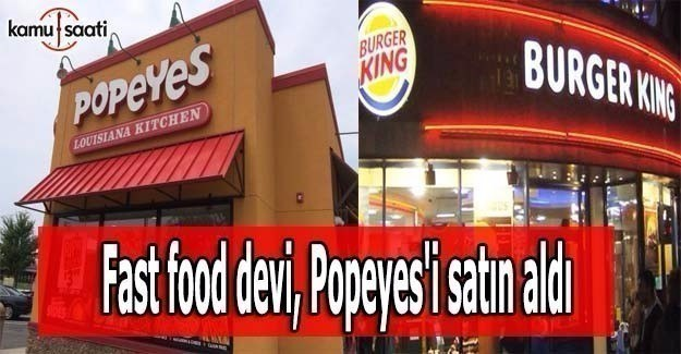 Fast food devi, Popeyes'i satın aldı