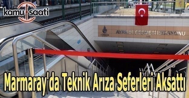 Marmaray'da teknik arıza seferleri aksattı