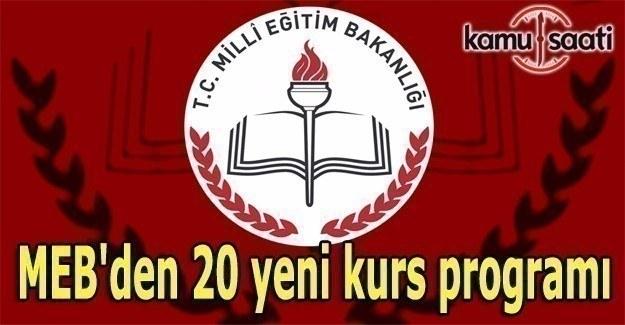 MEB'den 20 yeni kurs programı