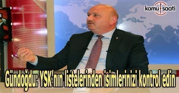 Metin Gündoğdu'dan referandum öncesi seçmenlere uyarı