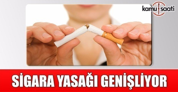 Sigara yasağının kapsamı genişliyor
