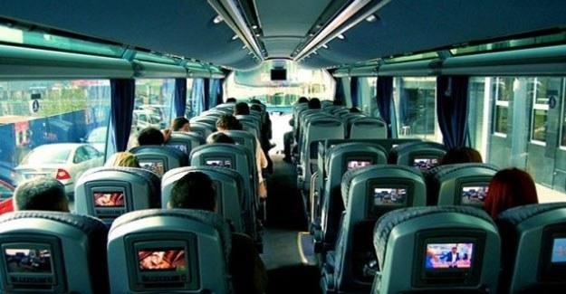 Sivil polislerden yolcu otobüslerinde trafik denetimi