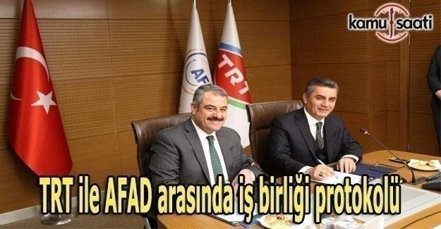 TRT ile AFAD arasında iş birliği protokolü