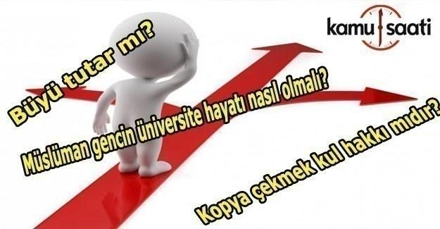 Üniversite öğrencileri, Diyanete en çok hangi soruları soruyor?
