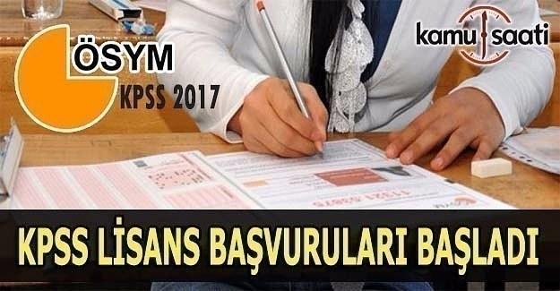 2017 KPSS Lisans başvuruları başladı