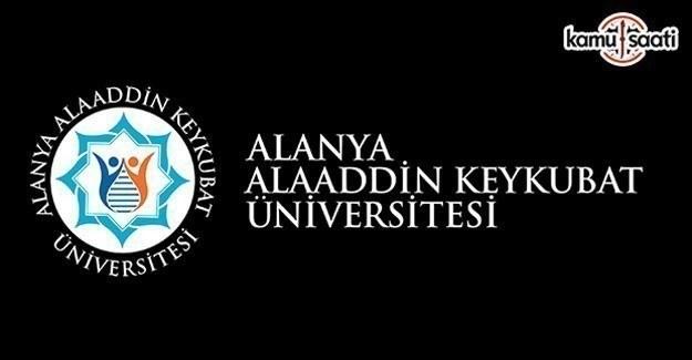 Alanya Alaaddin Keykubat Üniversitesi Ön Lisans ve Lisans Eğitim – Öğretim ve Sınav Yönetmeliği