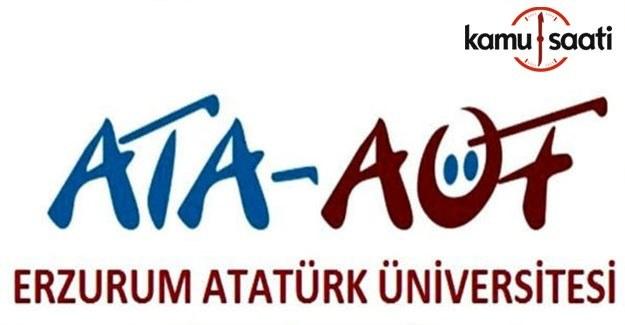 ATA AÖF Bütünleme Sonuçları açıklandı 4-5 Mart 2017
