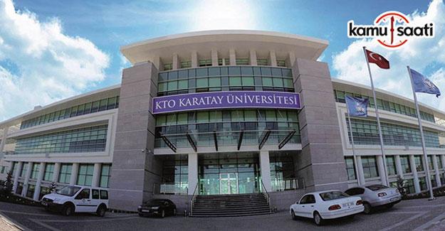 KTO - Karatay Üniversitesi Lisansüstü Eğitim-Öğretim ve Sınav Yönetmeliği