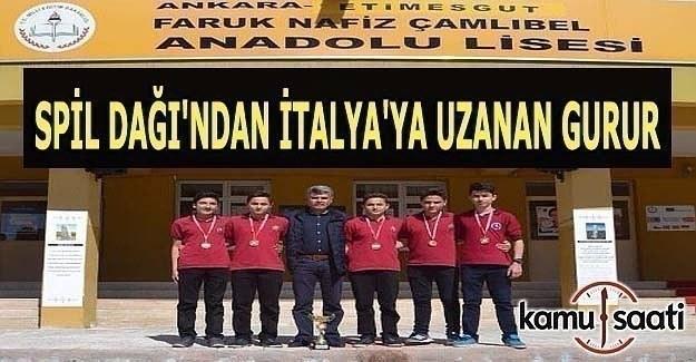 Oryantring Türkiye 1.'si Faruk Nafiz Çamlıbel Anadolu Lisesi İtalya'da ülkemizi temsil edecek