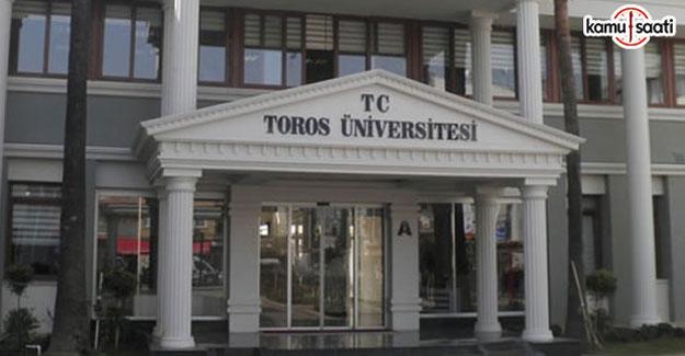 Toros Üniversitesi Lisansüstü Eğitim-Öğretim ve Sınav Yönetmeliği