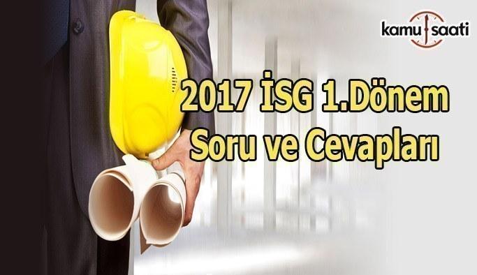 2017 İSG Sınavı Nasıldı?  2017 İSG 1.Dönem Soru ve Cevapları