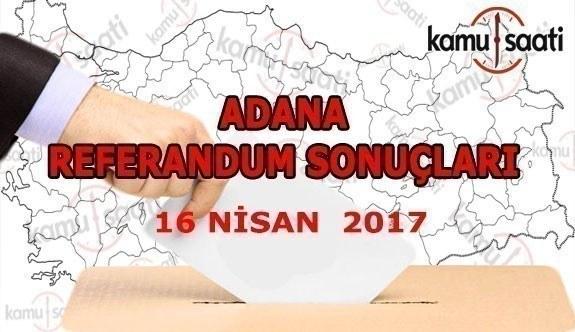 Adana İli Referandum Sonuçları 16 Nisan 2017