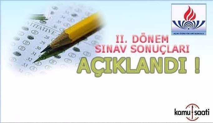 AÖO, 2. Dönem sınav sonuçları açıklandı- 18 Mart 2017