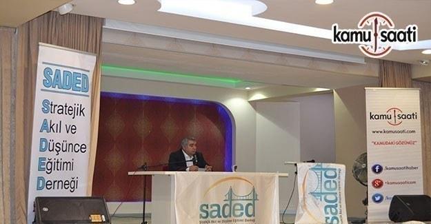 Necdet Subaşı SADED'in konferansında 'Cemaatler ve Sosyolojileri'ni anlattı