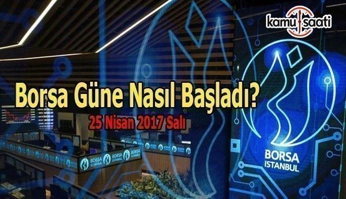 Borsa İstanbul BİST - 25 Nisan 2017 Salı