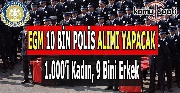 EGM 10 bin polis alımı yapacak