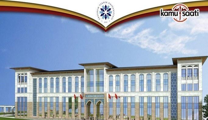 Erzurum Teknik Üniversitesi Lisansüstü Eğitim-Öğretim Yönetmeliği - 27 Nisan 2017