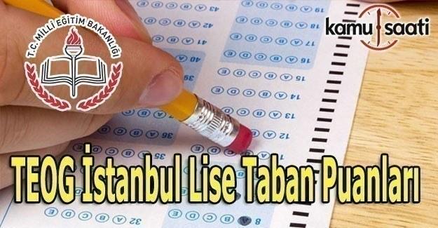 İstanbul Lise Taban Puanları 2017-2018