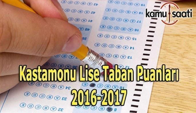 Kastamonu Lise Taban Puanları 2016-2017