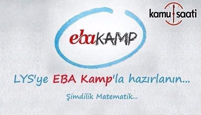 """LYS'ye hazırlanan öğrencilere MEB'den """"EBA Kamp"""""""