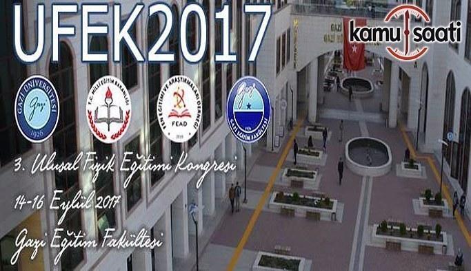 MEB'den 3. Ulusal Fizik Eğitimi Kongresi duyurusu