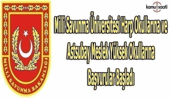 Milli Savunma Üniversitesi Harp Okullarına başvurular başladı