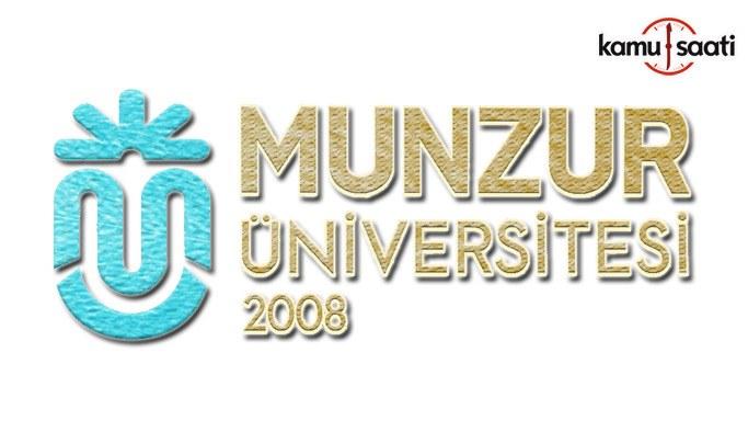 Munzur Üniversitesi Lisansüstü Eğitim ve Öğretim Yönetmeliğinde Değişiklik