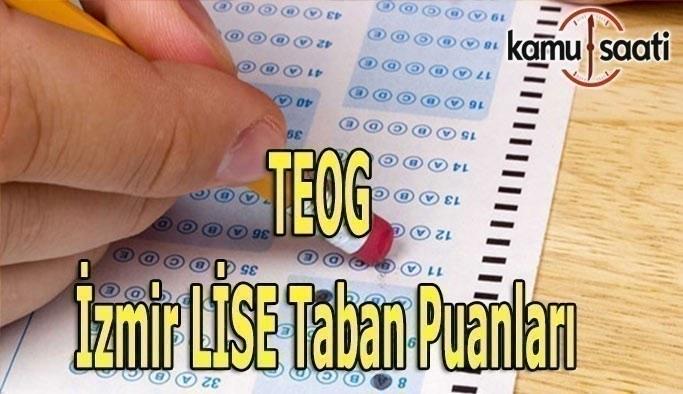 TEOG İzmir Lise taban puanları 2016-2017