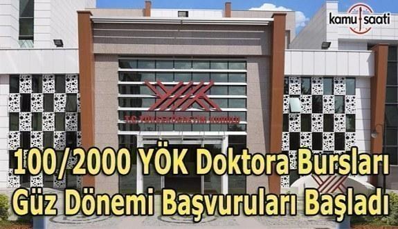 100/2000 YÖK Doktora Bursları Güz Dönemi Başvuruları Başladı