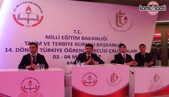 14. Dönem Türkiye Öğrenci Meclisi çalışmaları
