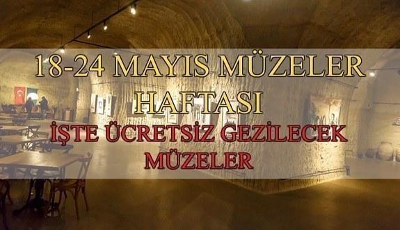 18-24 Mayıs Müzeler Haftası - Ücretsiz gezilecek müzeler